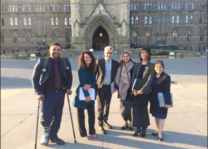 The A-Team in front of Centre Block