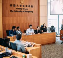 The Toronto team presenting during the DVC Summit, hosted at The University of Hong Kong's Faculty of Law
