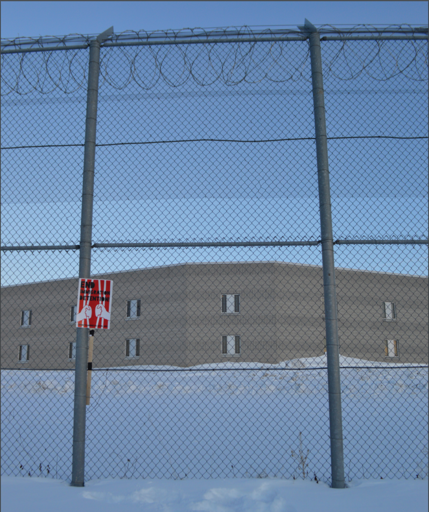 Outside Central East Correctional Centre, Lindsey, Ontario, in February 2015.