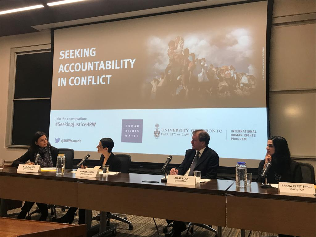 Seeking Accountability in Conflict Panel Speakers