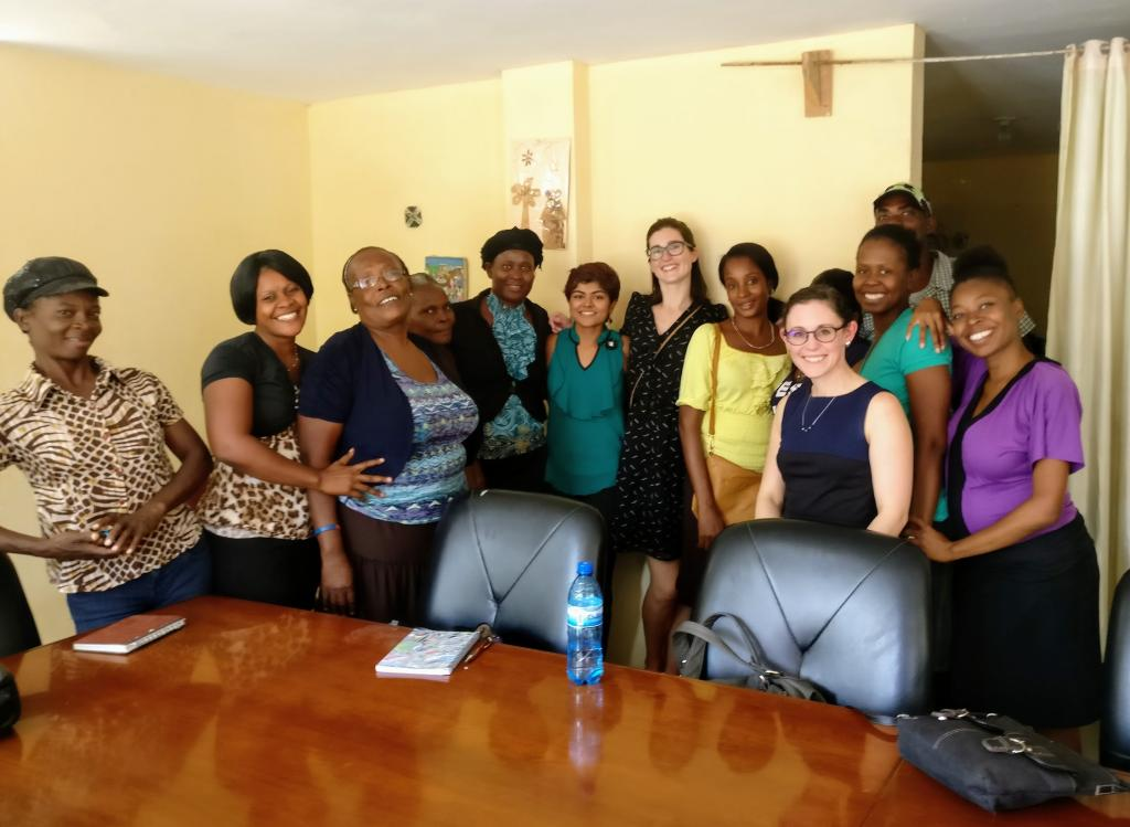 The Code Blue Campaign with advocates from the Federation des Femmes du Bas Artibonite. Photograph courtesy of the Code Blue Campaign.