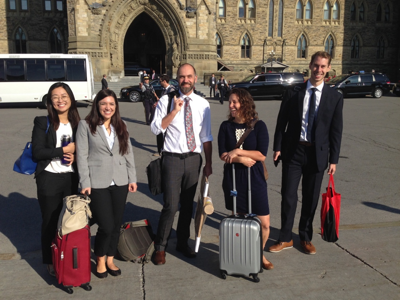 The No Life for a Child team at Parliament Hill for the press conference announcing the launch of the report.
