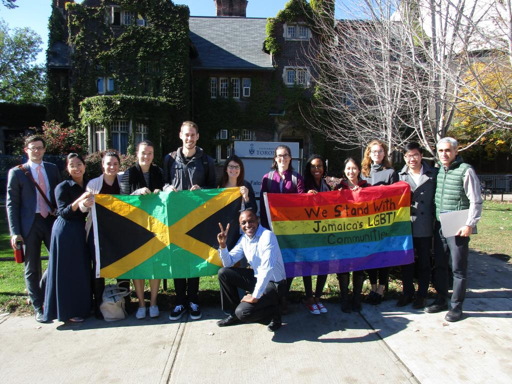 Maurice Tomlinson and the International Human Rights Program clinic students. As a guest lecturer at a clinic seminar last month, Maurice spoke about his work as an LGBTI rights advocate in the Caribbean.