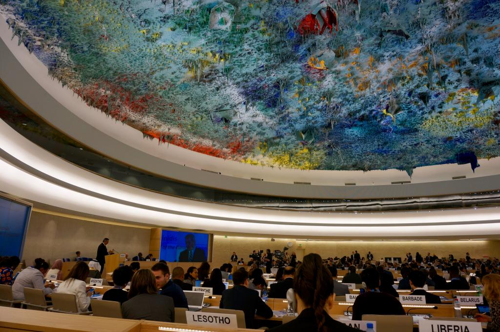 Inside the 34th session of the Human Rights Council. Photography by Karlson Leung.