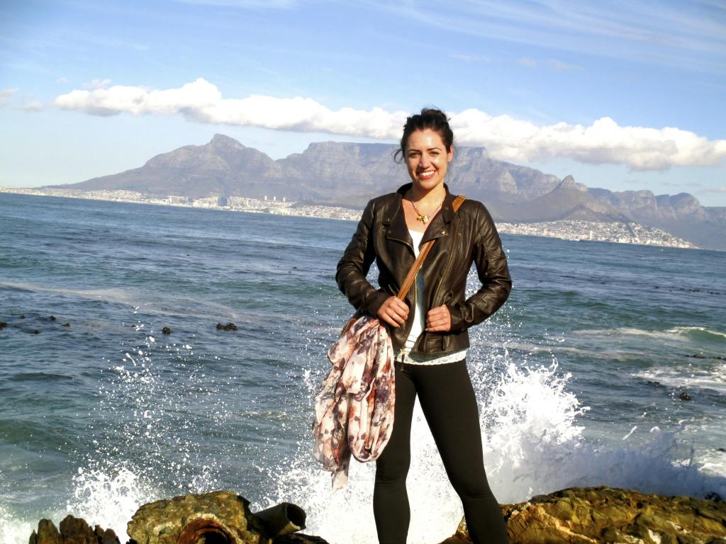 Photo of Hanna at Robben Island