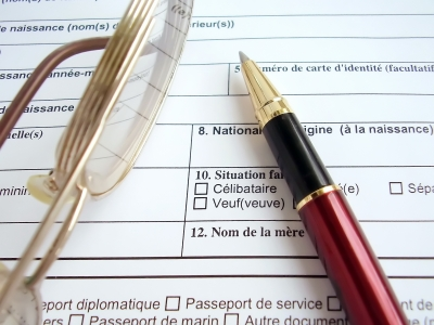 Visa Application Form Stock Image