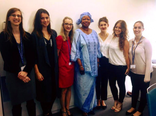 Sarah with Chief Prosecutor Fatou Bensouda.