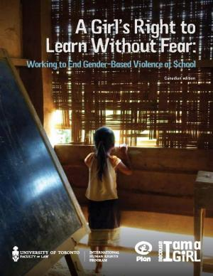 Cover of 'A girl's right to learn without fear' report