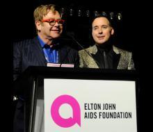 Elton John and David Furnish at EJAF event